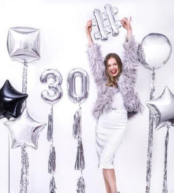 balony z helem na 30 urodziny